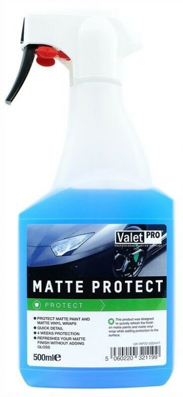 Valet Pro - Matte Protection - Matte Paint & Wrap Protector & Detailer - 500ml